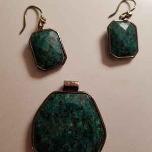 Silpada earrings and pendant